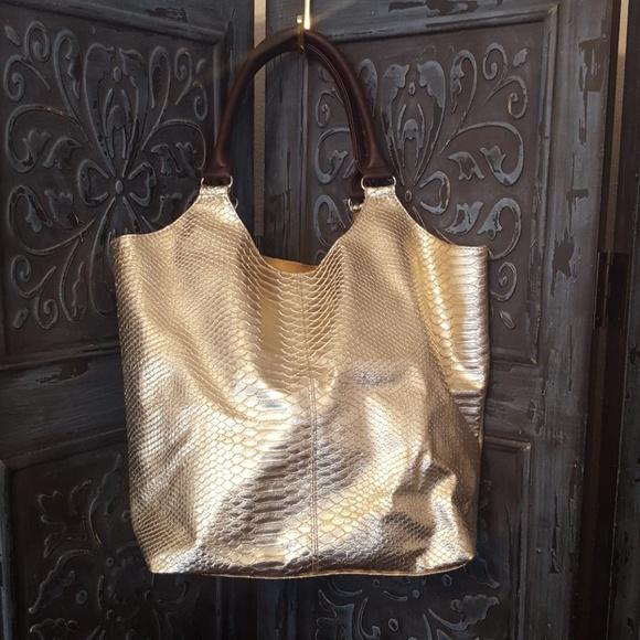 Neiman Marcus Handbags - Neiman Marcus Gold Tote Bag